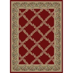 Red Vine Polypropylene Rug (5'3 x 7'3)