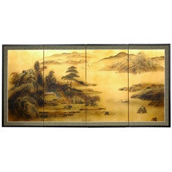 Gold Leaf Windows to the World Silk Screen (China)