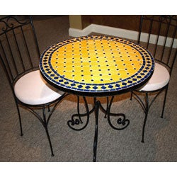 Mediterranean Iron Mosaic Table (Morocco)