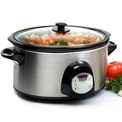 Digital 6-quart Stainless Steel Slow Cooker