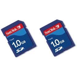 SanDisk 1GB Secure Digital Memory Card (Case of 2)