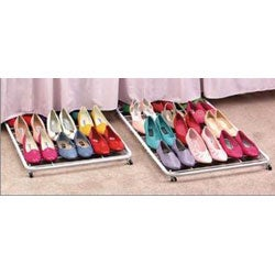 DeNovo Rolling Under-bed Shoe Rack