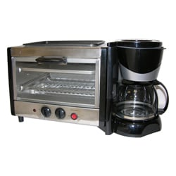 4-in-1 Breakfast Maker Toaster Oven/ Coffee Maker