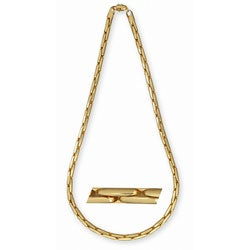Solid-brass 14-karat Gold-overlay 30-inch Cobra Fashion Necklace
