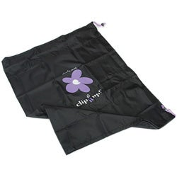Clip It Up Black with Purple Flowers Storage Cover