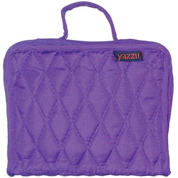 Yazzii Purple Quilted-cotton Six-compartment Scrapbooking Organizer