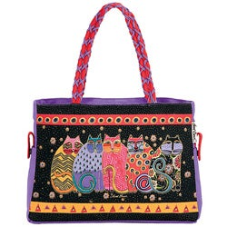 Laurel Burch Feline Family Portrait Medium Tote