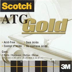 Scotch ATG Gold Transfer Tape (Pack of 2)