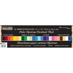 Paper Company Color Spectrum 12x12 Cardstock (Pack of 50)