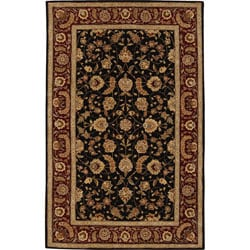 Nourison 2000 Hand-tufted Black Wool Rug (3'6 x 5'6)