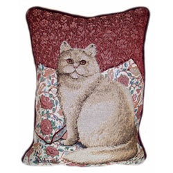 Fabric Kitty Tapestry Pillows (Set of 2)