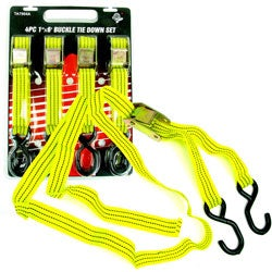 Weatherproof 6-inch Tie Downs with S Hook (Set of 4)