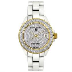 Swiss Legend Women's SL-20052-WWTG Diamonds Pave White Watch