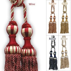 Beautiful Duel-head Curtain Tassel Tie-backs (Set of 2)