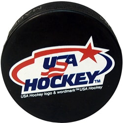 Official USA Hockey Pucks (Set of 6)