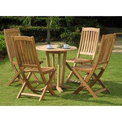 Roma Teak Wood Patio Dining Set