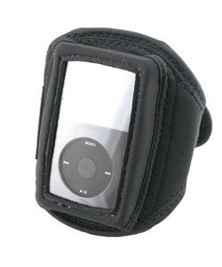 Black Deluxe Adjustable Padded Velcro SportBand for iPod Video