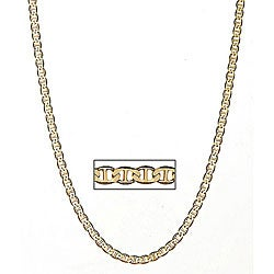 Simon Frank 14k Gold Overlay 24-inch Gucci-style Necklace 6mm
