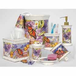 Butterfly Garden 4-piece Bath Accessory Set | Overstock.