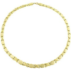 10k yellow gold hugs and kisses necklace 11362097
