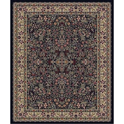 Traditional Black Sarouk Rug (2&#39;7 x 4&#39;1 Oval)