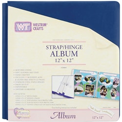 Soft Touch 12x12 Leatherette Strap/ Hinge Album