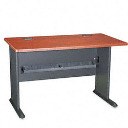 Bush Series A Cherry Workstation Desk