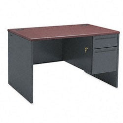 Steel HON 38000 Series Right Pedestal Desk