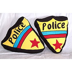 Police Shield Throw Pillows (Set of 2)