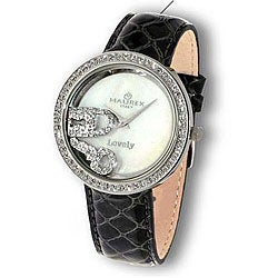 Haurex Italy Women's Floating Crystal Charm Watch