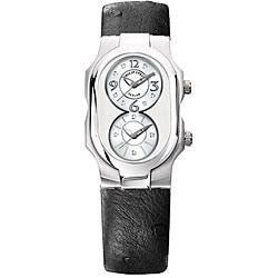 Philip Stein Teslar Diamond Ostrich Strap Watch