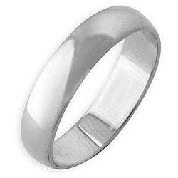 Simon Frank 14k White Gold Overlay Classic Band