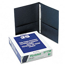 Twin Pocket Portfolios with Three Tang Fasteners (Pack of 25)