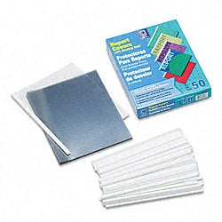 No-Punch Clear Report Covers with White Binders (50 per Box)