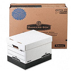 Fellowes R-Kive Black Storage Boxes (Pack of 12)