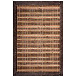 Hand-woven Rust Bamboo Rug (6' x 9')