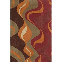Hand-tufted Pizzazz Multicolor Wool Rug (8' x 11')