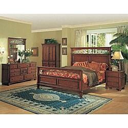 miranda 4 piece wrought iron king size bedroom set