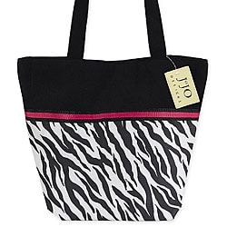 JoJo Designs Zebra Print and Hot Pink Tote Bag.