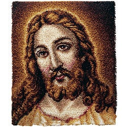 Wonderart Jesus Latch Hook Needlework Kit