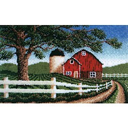 Wonderart Country Barn Latch Hook Needlework Kit