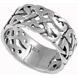 Tressa Sterling Silver Woven Celtic Band