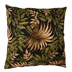 Large Outdoor Floor Pillows : Tropical Palm Black Large Outdoor Floor Pillow - 11435870 - Overstock.com Shopping - Great Deals ...