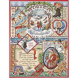 Winter Sampler Counted Cross Stitch Kit