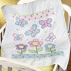 Butterfly Baby Quilt Open Stock Cross Stitch Kit