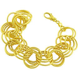 Goldkist 18k Gold over Silver Multi-rolo Bracelet