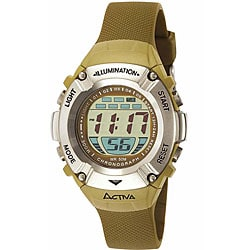 activa by invicta unisex khaki digital overstock