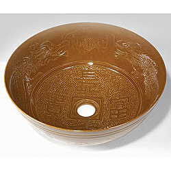 Baden Chinese Bronze Porcelain Vessel Sink