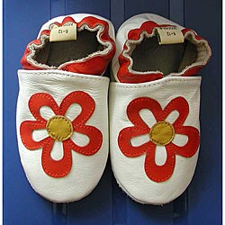 Happy Kids Flower Cream Leather Infant Shoes
