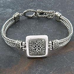 Sterling Silver 'Cawi Motif' Bracelet (Indonesia)